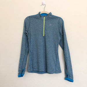 Nike Running Blue 1/4 Zip Sweater Size Small